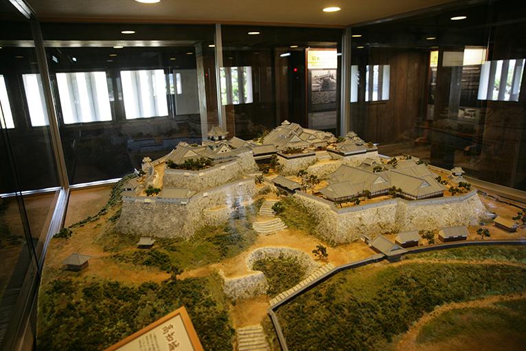 高知城内のジオラマ展示