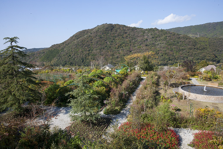 展望デッキからは「花の庭」全体がが見下ろせる。