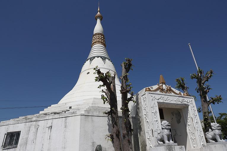 1958年に平和を願って建てられたパゴダ