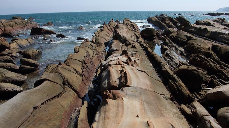 奇岩が続く竜串海岸