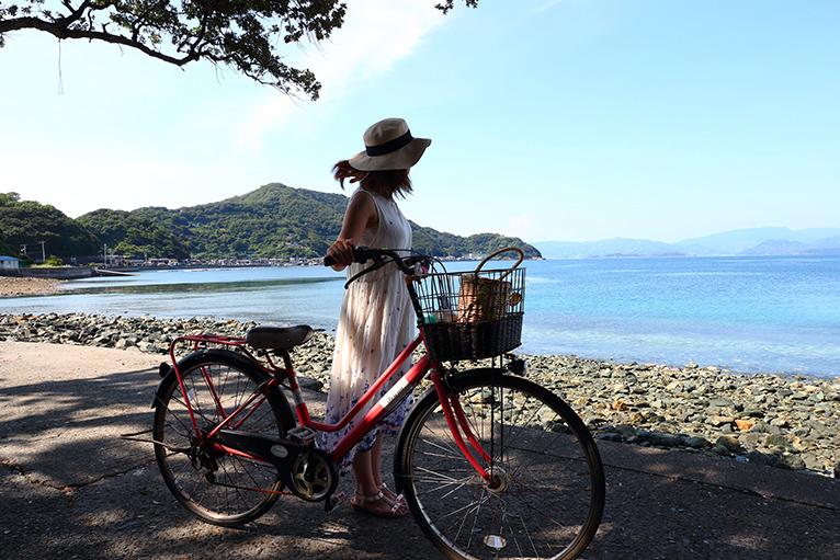 往復約8kmの海岸線を走るサイクリングロードを楽しもう