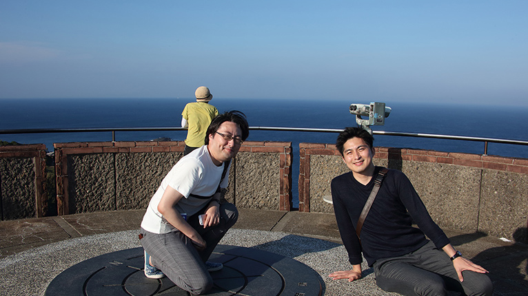 足摺岬展望台から眺望を楽しむ